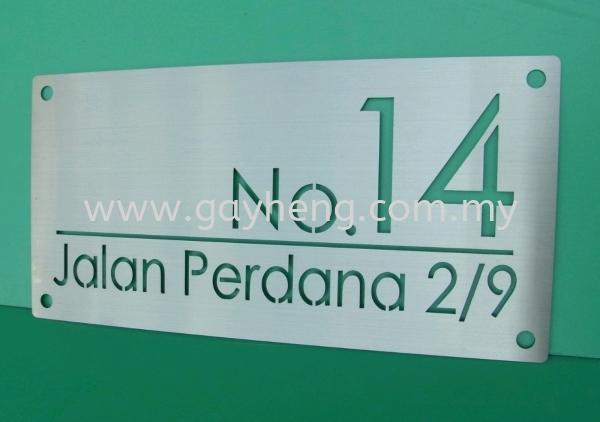 Stainless Steel House Number Plate °×¸ÖÃÅÅÆ House Number Plate Household Products Johor, Malaysia, Batu Pahat Supplier, Manufacturer, Supply, Supplies   Gayheng Stainless Steel Sdn Bhd