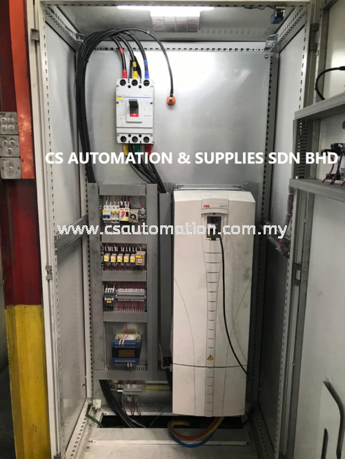 On site commissioning ABB ACS510 110kw, ACS510-01-195A-4, High Speed Mixer.