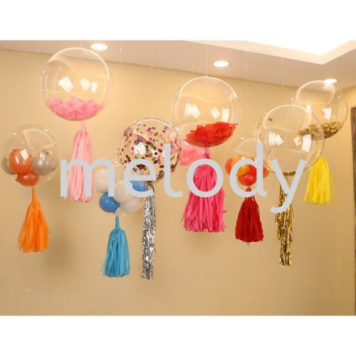 Transparent Balloons BOBO Balloon Oval Clear Balloons Bubble Balloon Stretched Version