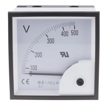 901-0532 - RS PRO Analogue Voltmeter AC ±1.5 %, 92 x 92 mm