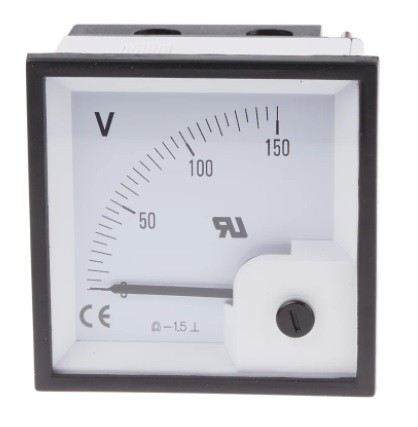 901-0554 - RS PRO Analogue Voltmeter DC ±1.5 %, 68 x 68 mm