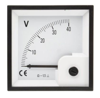 901-0551 - RS PRO Analogue Voltmeter DC ±1.5 %, 68 x 68 mm