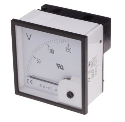 901-0560 - RS PRO Analogue Voltmeter DC ±1.5 %, 90.5 x 90.5 mm