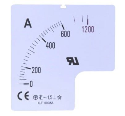 901-0444 - RS PRO Meter Scale, 250A, for use with 72 x 72 Analogue Panel Ammeter