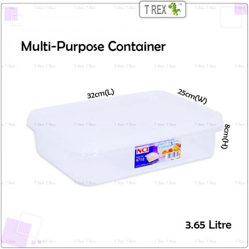 NCI6712 Multipurpose Container / Storage Box with Cover - 3.65 Litre