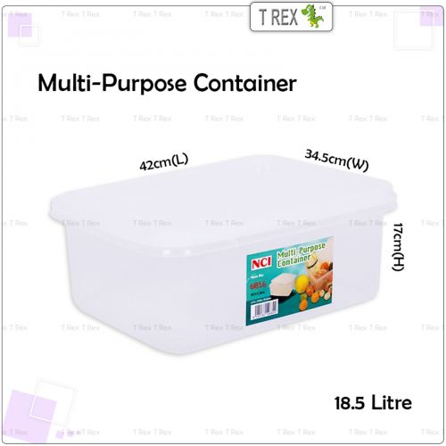 NCI6816 Multipurpose Container / Storage Box with Cover - 18.5 Litre