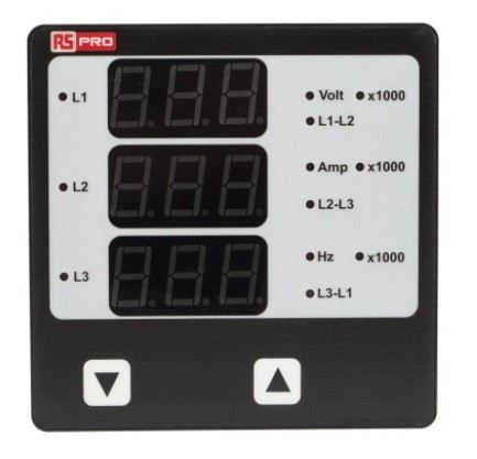 136-5378 RS PRO LED Digital Panel Multi-Function Meter for Current, Frequency, On Hour, RPM, Run H-