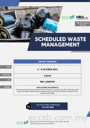 Online Training on Scheduled Waste Management