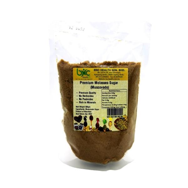 PREMIUM MOLASES SUGAR(MUSCOVADO)500G 调味&酱料 Perak, Malaysia, Taiping Supplier, Suppliers, Supply, Supplies   BNC Health Sdn Bhd