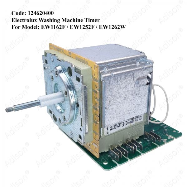 Code: 124620400 Electrolux Timer EW1162F / EW1252F / EW1262W Timer for Front Loading Washer / Dryer Washing Machine Parts Melaka, Malaysia Supplier, Wholesaler, Supply, Supplies   Adison Component Sdn Bhd
