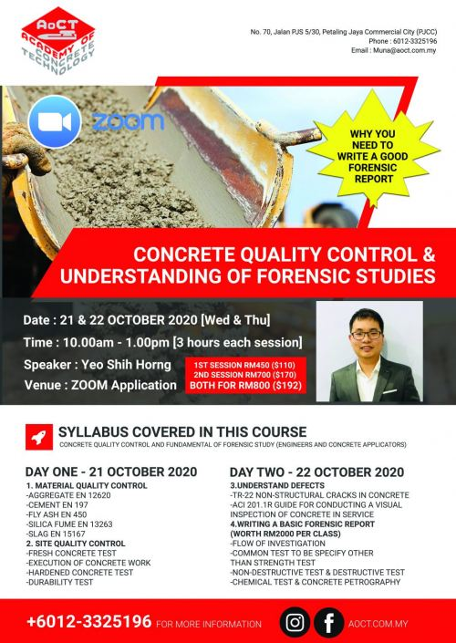 Concrete Quality Control & Understanding of Forensic Studies