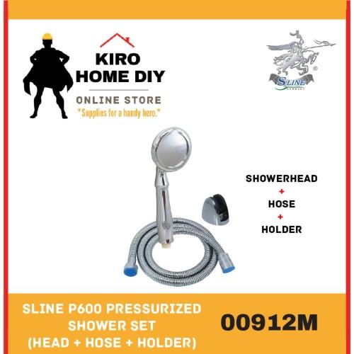 SLINE P600 Pressurized Shower Set (Head + Hose + Holder) - 00912M