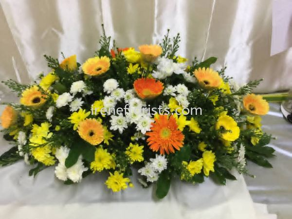 CT001 Funeral Wreath Taiping, Perak, Malaysia. Suppliers, Supplies, Supplier, Supply   Irene's Florists De Beaute