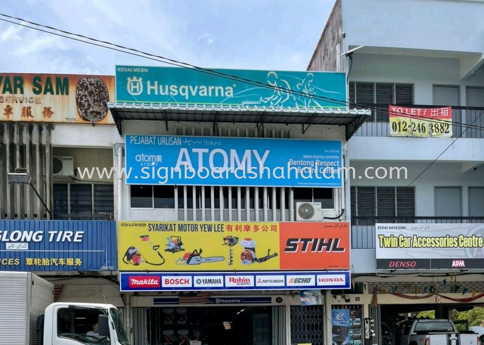 Atomy Bentong -3D lettering Signage With LED Frontlit