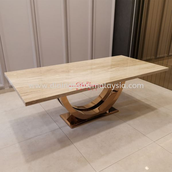 Italian Marble Dining Table | Nuvalato | 8 Seaters Marble Dining Table Malaysia, Selangor, Kuala Lumpur Supplier, Suppliers, Supply, Supplies | DeCasa Marble Sdn Bhd