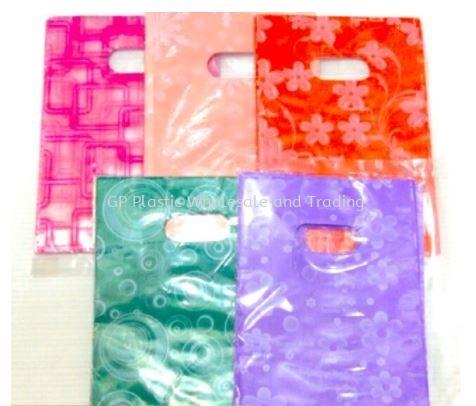 Printed Flower Kidney Hole Thank You Bag 纸袋