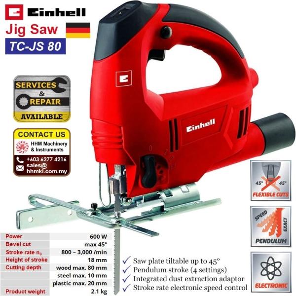 EINHELL Jigsaw TC-JS 80  Jig Saw Wood Working Tools Kuala Lumpur (KL), Malaysia, Selangor, Kepong Supplier, Suppliers, Supply, Supplies   HHM Machinery & Instruments Sdn Bhd