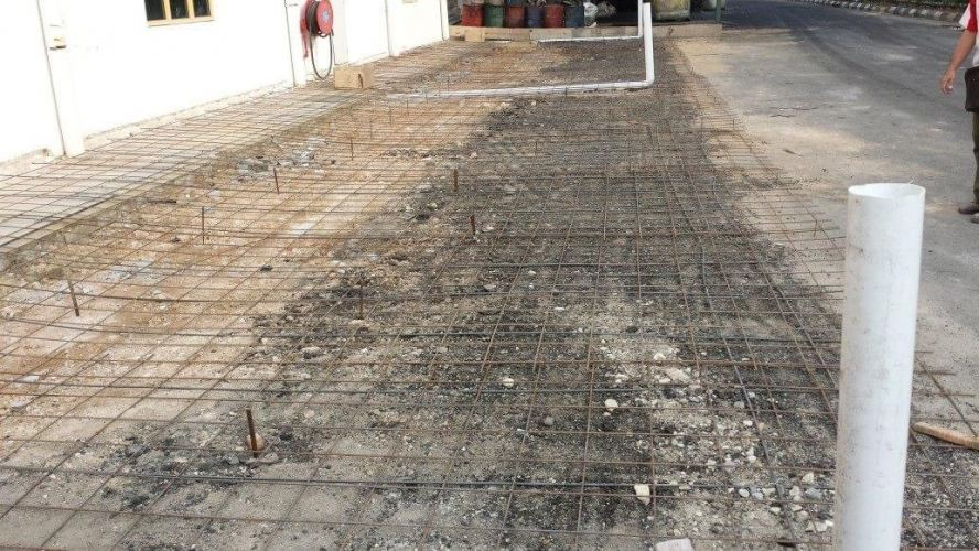 To Install Steel Structure & Metal Deck Concrete Work