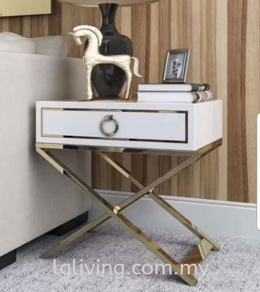 ST 1803-WHT SIDE TABLE COFFEE / SIDE TABLE LIVING ROOM Penang, Malaysia Supplier, Suppliers, Supply, Supplies | LG FURNISHING SDN. BHD.