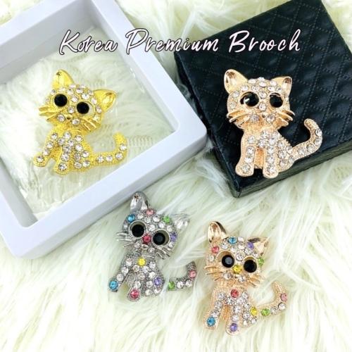 Elegant Brooch 1pc Korea Premium Brooch CatKerongsang Tudung Bahu Pin Tudung Baby Muslimah Brooch Pin-B2853