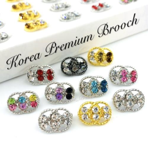 Elegant Brooch 10pcs Korea Premium Baby Brooch Kerongsang Tudung Pin Tudung Dagu Brooch Pin Kerongsang Murah- D2633