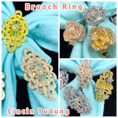 Elegant Brooch NEWKorea Cincin Tudung Bawal Brooch Ring Scarf Ring Tudung Muslimah Scarf Buckle Hijab Ring Brooch