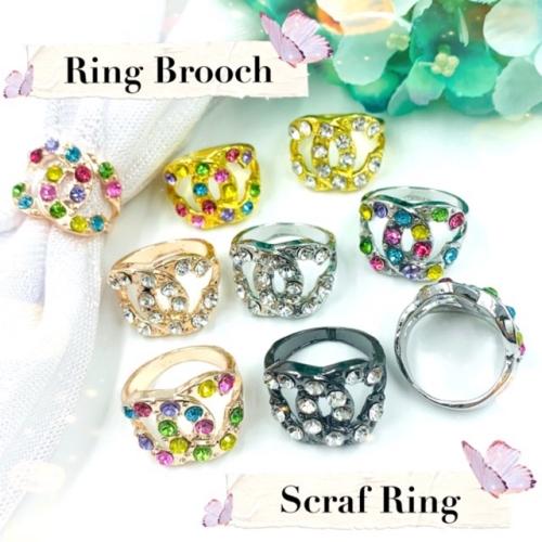 Elegant Brooch Korea Cincin Tudung Bawal Ring Brooch Scarf Ring Tudung Scarf Buckle Muslimah Ring Brooch (R57)