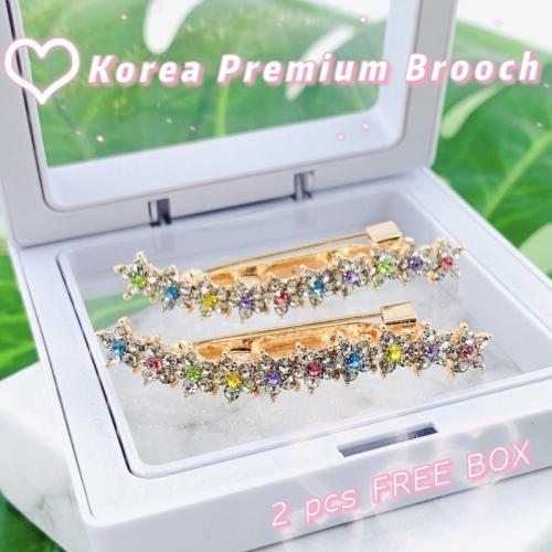 Elegant Brooch 2pcs[FREE BOX] Korea Premium Brooch Kerongsang Hijab Pin Bahu Keronsang Bahu Brooch Bahu-B2919