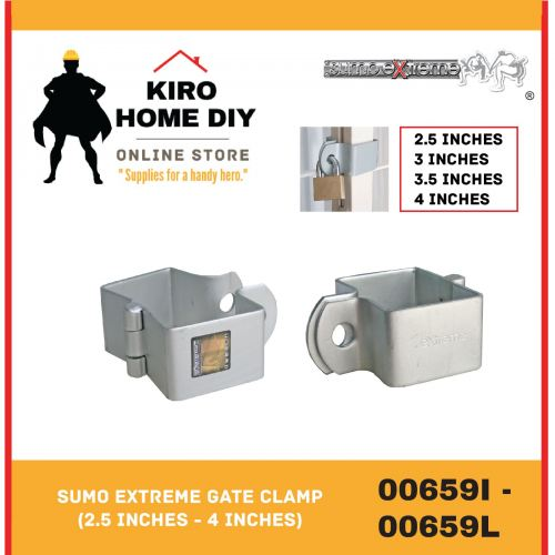 SUMO EXTREME Gate Clamp (2.5 Inches - 4 Inches) - 00659I/ 00659J/ 00659K/ 00659L