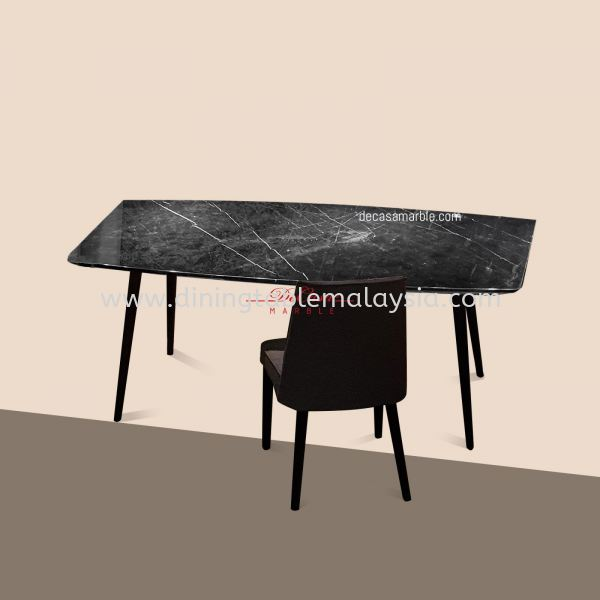 Black Marquina   Spain   6 seaters   Table only   RM2,999 Rectangular Marble Table Promotion / Clearance Item    供应商,批发商   DeCasa Marble Sdn Bhd