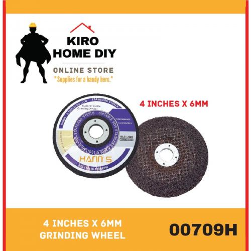 MANNS 4 Inches x 6mm Grinding Wheel (12 PCS) - 00709H