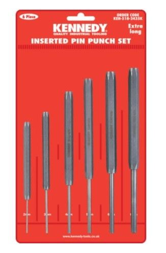 KEN5182435K - EX/LENGTH INSERTED PIN PUNCHES6-PCE SET