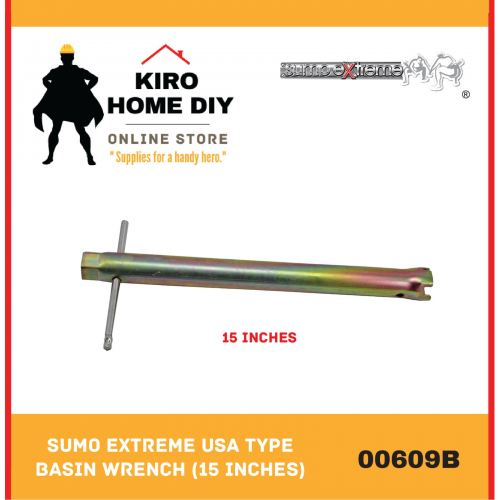 SUMO EXTREME USA Type Basin Wrench/ Telescopic Basin Wrench (15 Inches) - 00609B