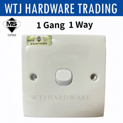 MIND 1 Gang 1 Way Switch (SIRIM Approved)
