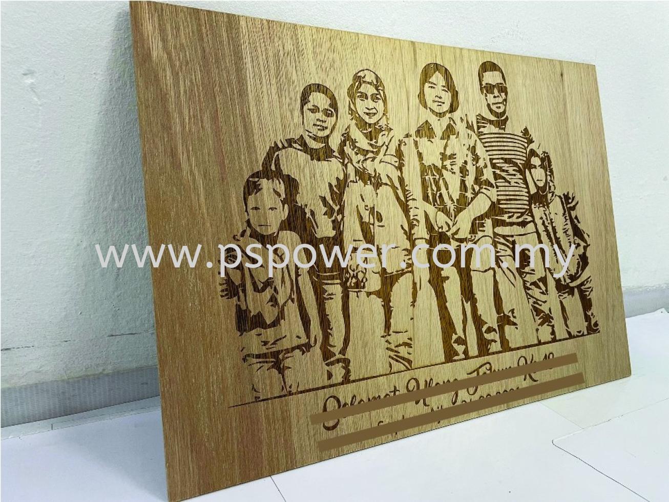 Photo laser engrave on Wood Souvenir