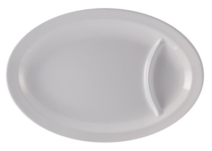 Oval Plate with Divided
