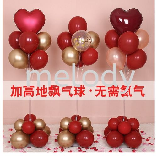 Balloon Stand Kit Clear Table Desktop Holder Birthday Party Decoration