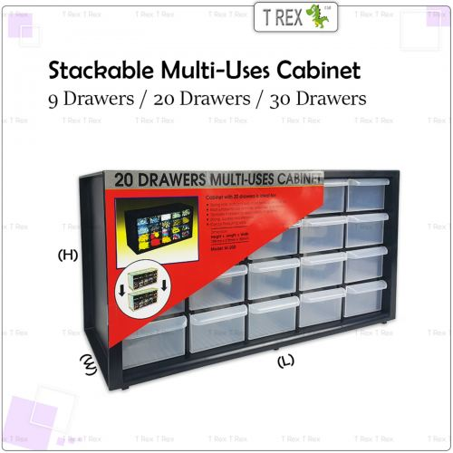 9, 20 or 30 Drawers Stackable Multi-Uses Cabinet