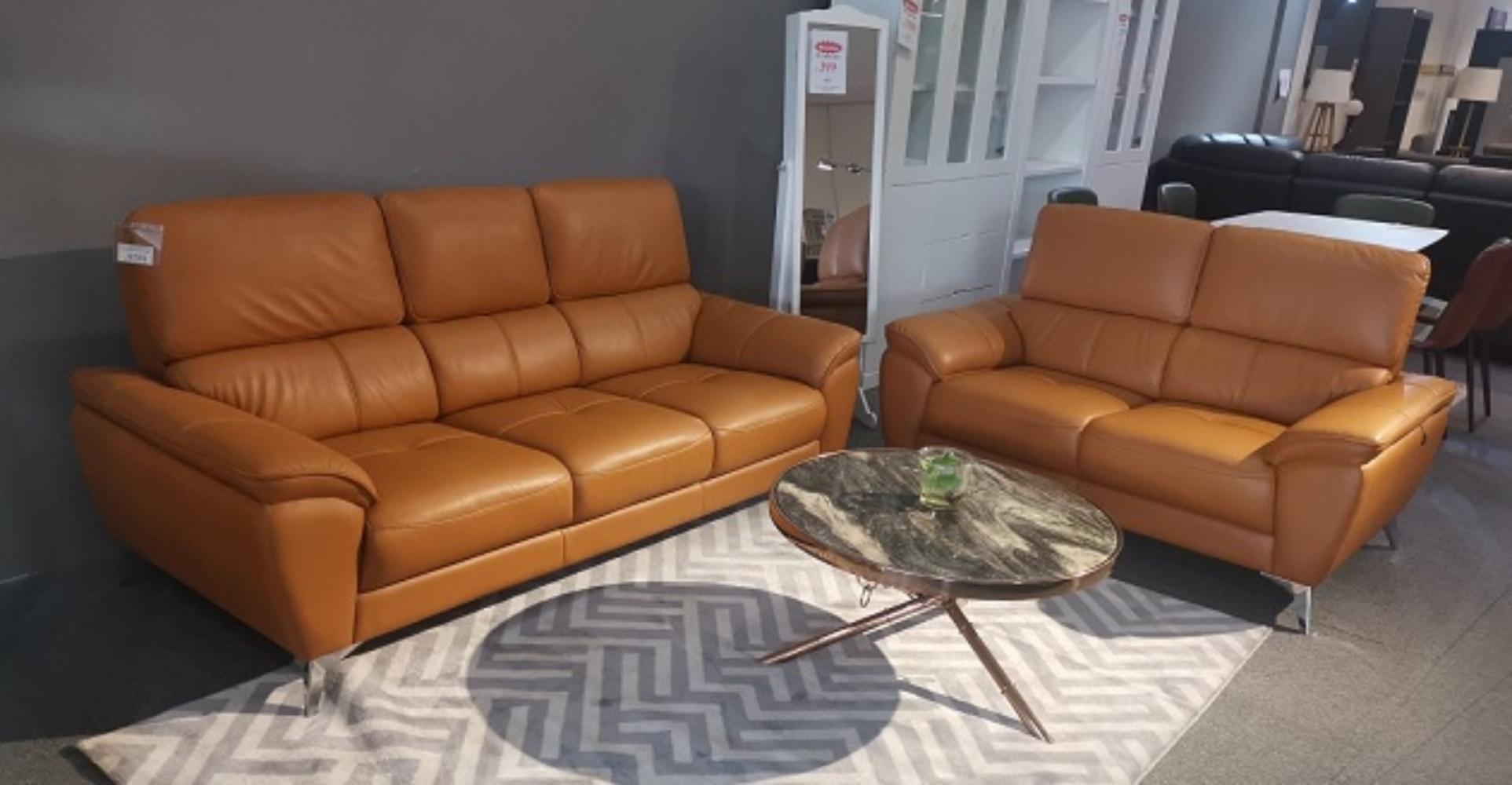 Tick Leather Sofa