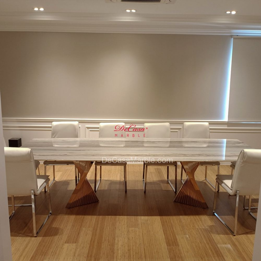 Luxury marble dining table | 10ft | Palisandro | 10 Seaters