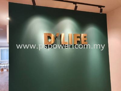 3D Signage for Indoor Wall