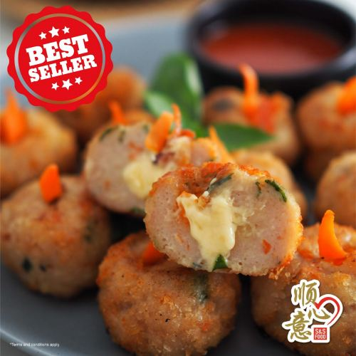 Breadcrumbs With Cheese Filling Chicken Ball 起司仙果球 (炸)