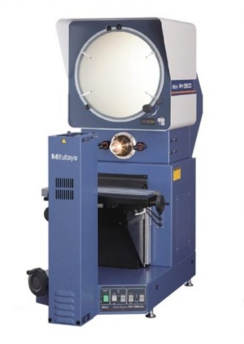 Mitutoyo 64PKA088A PH-3515F Horizontal Profile Projector with QM-Data 200 and Arm Mount