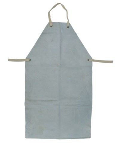 """KEN8858030K - CHROME/LEATHER APRON WITH TIES24x42"""" GREY"""
