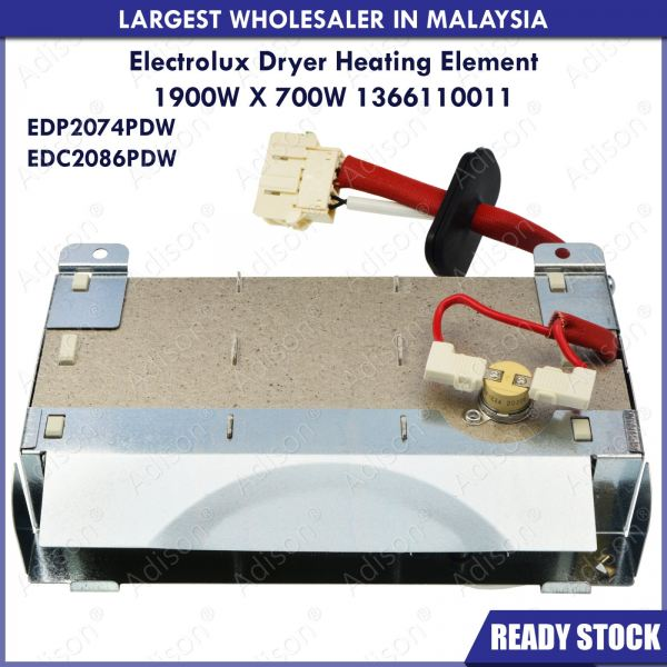Code: 1366110011 Electrolux EDP2074PDW / EDC2086PDW Dryer Heating Element Dryer Heater Tumble Dryer Parts Melaka, Malaysia Supplier, Wholesaler, Supply, Supplies   Adison Component Sdn Bhd