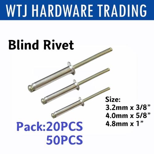 "Aluminium Blind Rivet (3.2MM X 3/8"", 4.0MM X 5/8"", 4.8MM X 1"")"