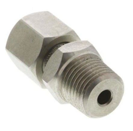 131-4766 - RS PRO Stainless Steel Compression Fitting for use with 2 mm Diameter Thermocouple Probe