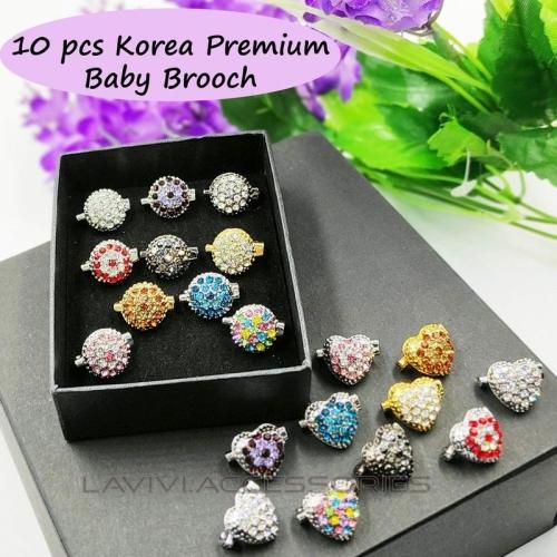 10pcs Korea Premium Baby Brooch ( 2 Design Option) / Kerongsang dagu