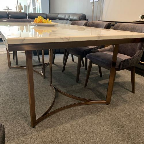 Rose Gold Dining Table 7'