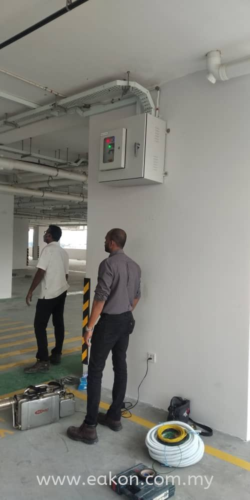 Testing presurised fan at level  6 all lobby and staircase